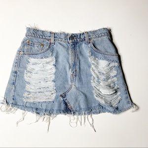 Furst of a Kind LF Levi's Distressed denim Skirt